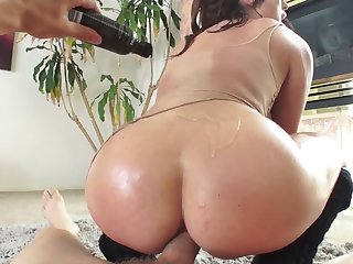 Slutty shady adores anal cockriding on erect meatstick