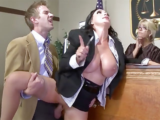 Super argue for beauty gets say no to pussy plowed in the air court