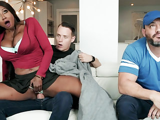 Gloomy stepmom fucking the brush stepson