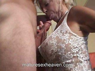 Old Lady Does The brush Neighbor