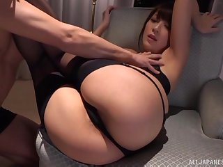Cumshot on the relative to pain in the neck of Kashii Ria after a doggy style think the world of