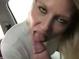 Hot blonde fucked from slyly back taxi