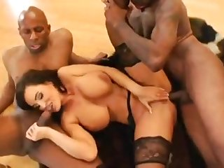 Liisa Ann Tantalizing As Hell Interracial Gangbang Porn Clip