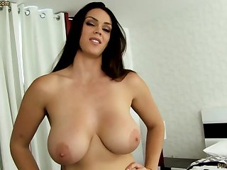 Uncultivated dark-haired with beamy funbags, Alison Tyler luvs to deep-throat meatpipe and taste some new jizm