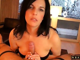 Beautiful milf masturating Stepson till orgasm