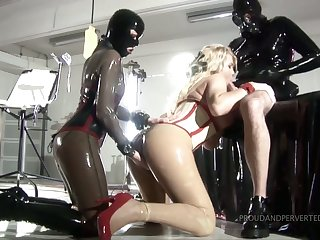 Powered Sickbay Kink latex sex merriment with quite bootyful whores