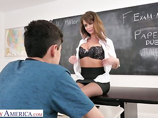 Sizzling MILFie tutor Emily Addison gives a good ride for scale