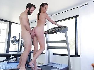 Sofie Marie likes hard sex at the gym with her handsome tutor