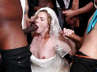 A bridal day turns tohardcore gangbang for hot bride Ella Nova