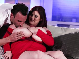 Mouth watering BBW Kimmie Kaboom has an affair with one handsome gigolo
