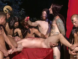 Anal, Ass, Group, Handjob, Orgy, Tattoo,