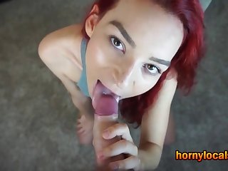 Thing embrace and Facial for a Half-starved Small Titted Whore