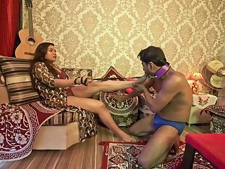 Raunchy Chocolate Indian Couple Femdom Sex