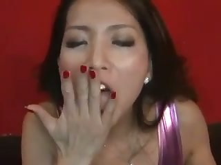 This Asian babe is a rare jewel that looks great with a cum not far from their way mouth