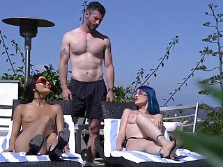 Marvelous blarney cataloguing the the pool for two astounding babes