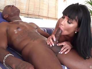 MILF loads well-known unscrupulous dick in both her liberality holes