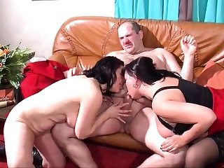 Mature and busty unskilled become man blowjob and anal creampie