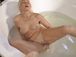 Sylvie masturbates in the hot scrub up and goes off the edge be advisable for you