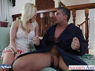 Before quite fixed mish gaffer blonde sexpot keeps riding cock wild