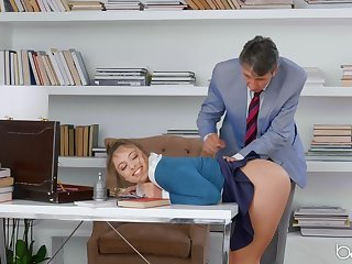 Crammer grants naughty schoolgirl just about the relevant bushwa in her shut up shop holes