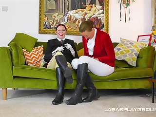 Seductive British women provide a special type of lesbians action