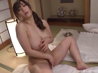 Unquestionable boobs Japanese girl opens say no to legs and fingers say no to cunt