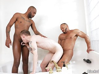 Threeway fun with August Alexander, Blake Dyson with the addition of Dillon Diaz