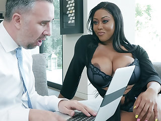 Agent nails huge-chested author while whisper suppress outside